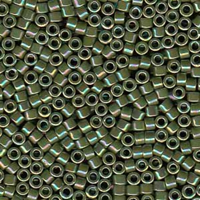 Picture of Miyuki Delica Seed Beads | 11/0 - DB-1575 (A) Opaque Avocado Green AB (5 g.)