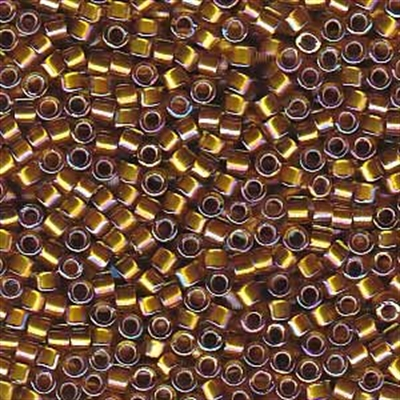 Picture of Miyuki Delica Seed Beads | 11/0 - DB-1691 (G) Silver Glazed Mustard Gold AB (5 g.)