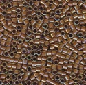 Picture of Miyuki Delica Seed Beads | 11/0 - DB-1738 (A) Cocoa Lined Chartreuse AB (5 g.)