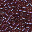 Picture of Miyuki Delica Seed Beads | 8/0 - DBL-0104 (F) Transparent Berry w/Garnet Luster AB (5 g.)