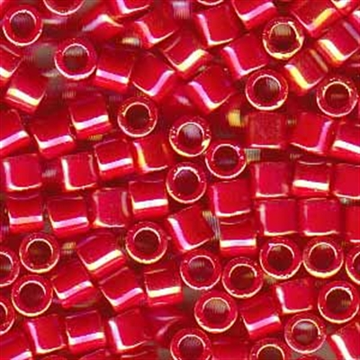 Picture of Miyuki Delica Seed Beads | 8/0 - DBL-0162 (D) Opaque Dk. Red AB (5 g.)