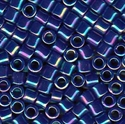 Picture of Miyuki Delica Seed Beads | 8/0 - DBL-0165 (A) Opaque Cobalt Blue AB (5 g.)