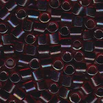 Picture of Miyuki Delica Seed Beads | 8/0 - DBL-0297 (B) Garnet Lined Ruby AB (5 g.)