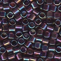 Picture of Miyuki Delica Seed Beads | 8/0 - DBL-1244 (A) Transparent Dk. Amethyst AB (5 g.)