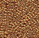 Picture of Miyuki Delica Seed Beads | 11/0 - DB-1833 (S) DURACOAT Galvanized Dk. Gold (5 g.)