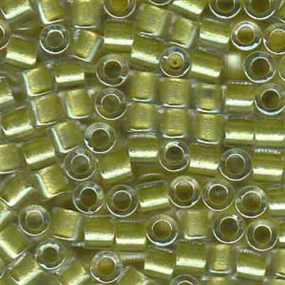 Picture of Miyuki Delica Seed Beads | 8/0 - DBL-0910 (B) Yellow Green Lined Crystal w/Sparkle (5 g.)