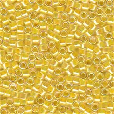 Picture of Miyuki Delica Seed Beads | 11/0 - DB-0053 (A) Lt. Yellow Lined Crystal AB (5 g.)