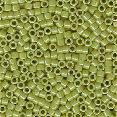 Picture of Miyuki Delica Seed Beads | 11/0 - DB-0262 (D) Opaque Pea Green Luster (5 g.)