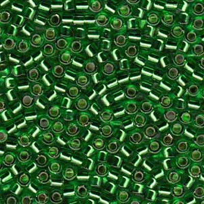 Picture of Miyuki Delica Seed Beads | 11/0 - DB-0046 (C) Silver-Lined Kelly Green (5 g.)
