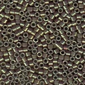 Picture of Miyuki Delica Seed Beads | 11/0 - DB-1011 (L) Mauve w/Metallic Green Gold Luster AB (5 g.)