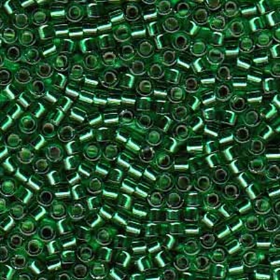 Picture of Miyuki Delica Seed Beads | 11/0 - DB-0605 (G) Silver-Lined Emerald Green (5 g.)