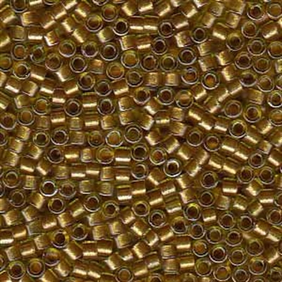 Picture of Miyuki Delica Seed Beads | 11/0 - DB-0909 (A) Gold Beige Lined Crystal w/Sparkle (5 g.)