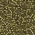 Picture of Miyuki Delica Seed Beads | 11/0 - DB-0908 (A) Lt. Olive/Moss Lined Crystal w/Sparkle (5 g.)