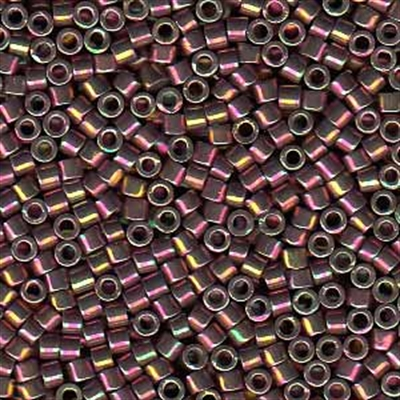 Picture of Miyuki Delica Seed Beads | 11/0 - DB-1014 (L) Metallic Violet w/Gold Luster AB (5 g.)