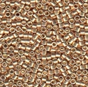 Picture of Miyuki Delica Seed Beads | 11/0 - DB-0411 (P) Galvanized Lt. Gold (5 g.)