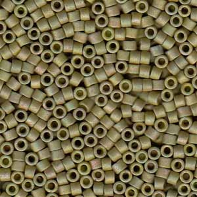 Picture of Miyuki Delica Seed Beads | 11/0 - DB-0372 (P) Matte Opaque Olive Luster AB (5 g.)