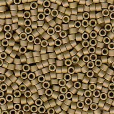 Picture of Miyuki Delica Seed Beads | 11/0 - DB-0371 (P) Matte Opaque Golden Olive Luster (5 g.)