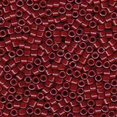 Picture of Miyuki Delica Seed Beads | 11/0 - DB-0654 (B) Dyed Opaque Dk. Red (5 g.)