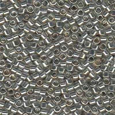 Picture of Miyuki Delica Seed Beads | 11/0 - DB-0114 (D) Transparent Silver Grey w/Gold Luster (5 g.)