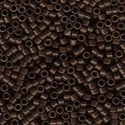 Picture of Miyuki Delica Seed Beads | 11/0 - DB-0734 (A) Opaque Chocolate Brown (5 g.)
