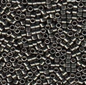 Picture of Miyuki Delica Seed Beads | 11/0 - DB-0452 (Q) Nickel Plated Dk. Grey (5 g.)