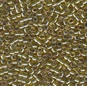 Picture of Miyuki Delica Seed Beads | 11/0 - DB-0124 (L) Transparent Citrine Lime w/Gold Luster (5 g.)