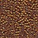 Picture of Miyuki Delica Seed Beads | 11/0 - DB-0505 (PM5) 24KT Dk. Gold Plated (2.5g)