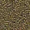 Picture of Miyuki Delica Seed Beads | 11/0 - DB-0133 (L) Opaque Golden Olive Luster AB (5 g.)