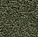 Picture of Miyuki Delica Seed Beads | 11/0 - DB-0131 (L) Opaque Dk. Olive Green w/Pink Luster (5 g.)