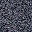 Picture of Miyuki Delica Seed Beads | 11/0 - DB-0132 (L) Opaque Steel Blue w/Pink Luster (5 g.)