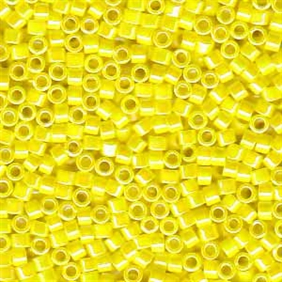 Picture of Miyuki Delica Seed Beads | 11/0 - DB-0160 (C) Opaque Yellow AB (5 g.)