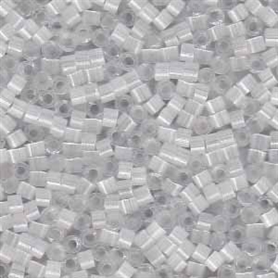 Picture of Miyuki Delica Seed Beads | 11/0 - DB-0676 (L) Iced Pale Grey-White Silk (5 g.)