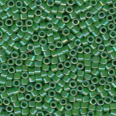 Picture of Miyuki Delica Seed Beads | 11/0 - DB-0163 (A) Opaque Green AB (5 g.)