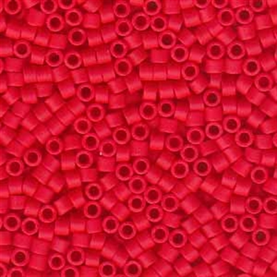 Picture of Miyuki Delica Seed Beads | 11/0 - DB-0757 (B) Matte Opaque Scarlet Red (5 g.)