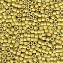 Picture of Miyuki Delica Seed Beads | 11/0 - DB-1164 (R) Matte Galvanized Muted Yellow (5 g.)