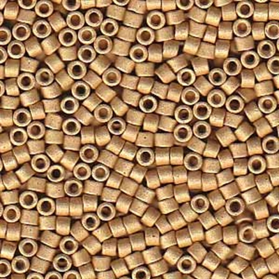 Picture of Miyuki Delica Seed Beads | 11/0 - DB-1163 (R) Matte Galvanized Honey Gold (5 g.)