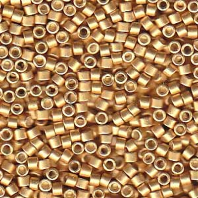 Picture of Miyuki Delica Seed Beads | 11/0 - DB-1153 (R) Semi-Matte Galvanized Honey Gold (5 g.)