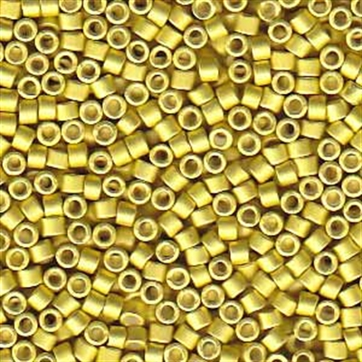Picture of Miyuki Delica Seed Beads | 11/0 - DB-1154 (R) Semi-Matte Galvanized Muted Yellow (5 g.)