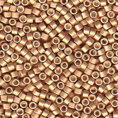 Picture of Miyuki Delica Seed Beads | 11/0 - DB-1155 (R) Semi-Matte Galvanized Rose Gold (5 g.)