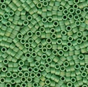 Picture of Miyuki Delica Seed Beads | 11/0 - DB-0877 (B) Matte Opaque Green AB (5 g.)