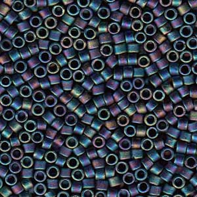 Picture of Miyuki Delica Seed Beads | 11/0 - DB-0871 (B) Matte Opaque Black AB (5 g.)