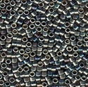 Picture of Miyuki Delica Seed Beads | 11/0 - DB-0543 (PM4) Blue/Violet/Steel Palladium Plated AB (2.5g)