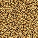 Picture of Miyuki Delica Seed Beads | 11/0 - DB-1832F (U) DURACOAT Matte Galvanized Bright Gold (5 g.)