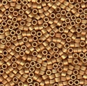 Picture of Miyuki Delica Seed Beads | 11/0 - DB-1833F (U) DURACOAT Matte Galvanized Dk. Gold (5 g.)