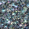 Picture of LDP-0283 (E)  Noir (Black) Lined Crystal AB (10 g.)