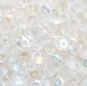 Picture of Czech SuperDuo Beads | SD-00030/28771 Matte Crystal AB