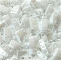 Picture of Miyuki Half Tila Beads | HTL-0420 (E) Opaque White Luster (5 g.)