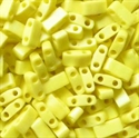 Picture of Miyuki Half Tila Beads | HTL-0404FR (F) Matte Opaque Yellow AB (5 g.)