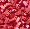Picture of Miyuki Half Tila Beads | HTL-0408FR (F) Matte Opaque Red AB (5 g.)