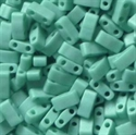 Picture of Miyuki Half Tila Beads | HTL-0412FR (G) Matte Opaque Turquoise AB (5 g.)